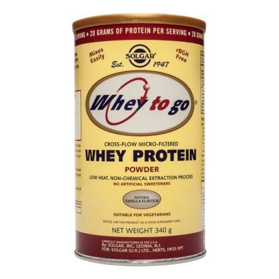 Whey To Go Natural Vanilla Flavour Protein Powder 340 g