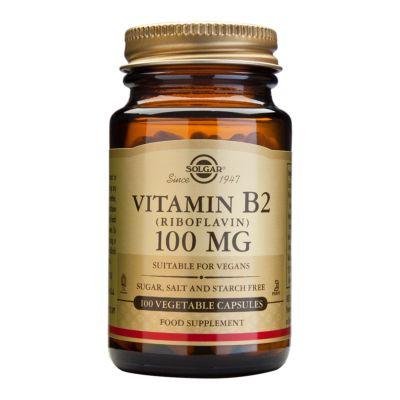 Vitamin B2 (Riboflavin) 100 mg Vegetable Capsules