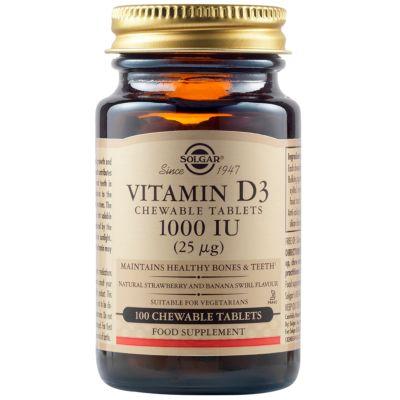 Vitamin D3 1000 IU (25 µg) Chewable Tablets