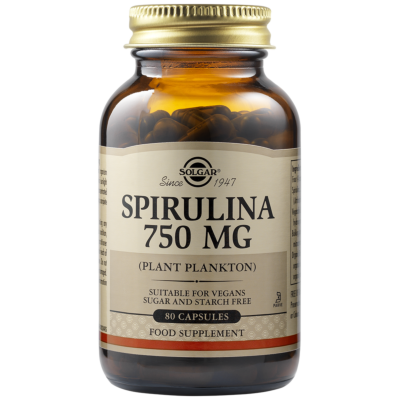 Spirulina 750mg Vegetable Capsules