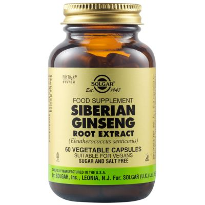 Siberian Ginseng Root Extract Vegetable Capsules