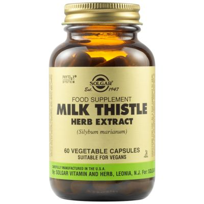 Milk Thistle Herb Extract Vegetable Capsules