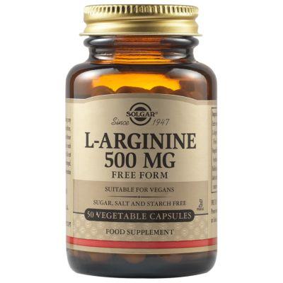 L-Arginine 500 mg Vegetable Capsules
