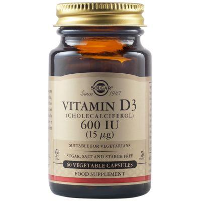 Vitamin D3 (Cholecalciferol) 600 IU (15 µg) Vegetable Capsules