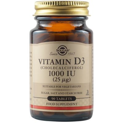 Vitamin D3 (Cholecalciferol) 1000 IU (25 µg) Tablets