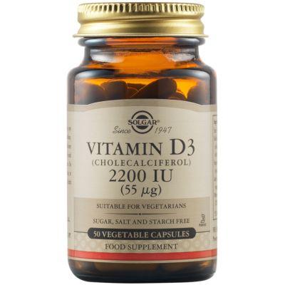 Vitamin D3 (Cholecalciferol) 2200 IU (55 µg) Vegetable Capsules