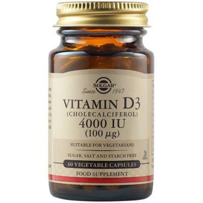 Vitamin D3 (Cholecalciferol) 4000 IU (100 µg) Vegetable Capsules